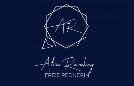 Logo dunkelblau von Freie Rednerin Alisa Reineking